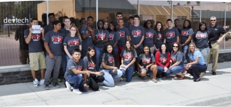 Devtech is the community business partner/sponsor of the AVID program at our local high school
